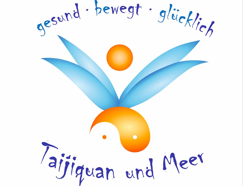 Logo Taijiquan und Meer, gesund bewegt glücklich