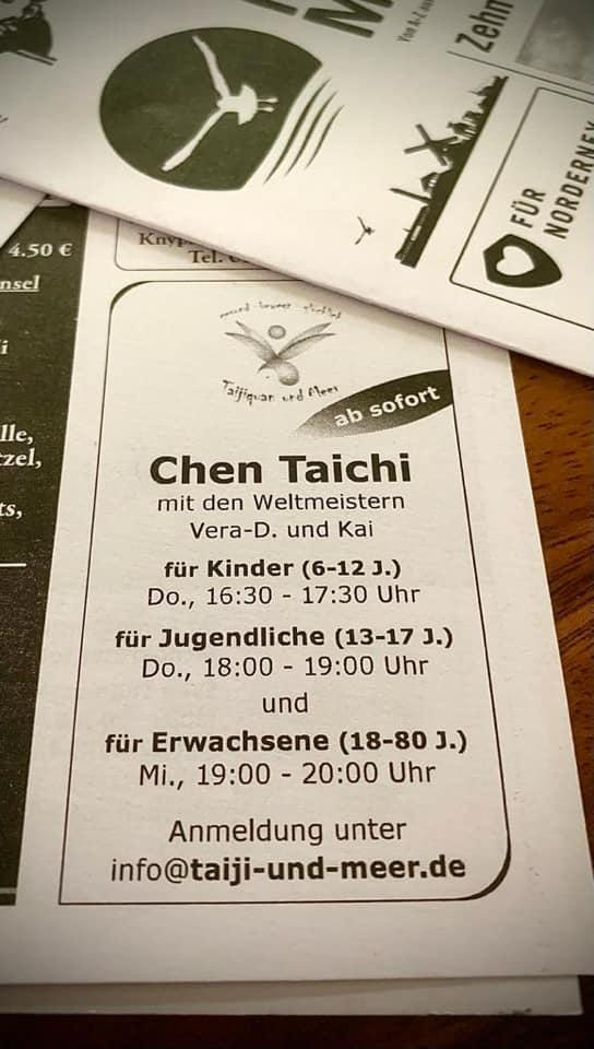 Taijiquan für Anfänger, Taichi auf Norderney, Tai Chi für Norderneyer